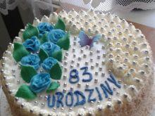 Śmietankowo - czekoladowy torcik na 83 urodziny