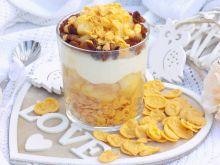Śniadaniowa kasza manna z płatkami i jabłkami