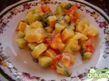 Śniadaniowa sałatka z serem