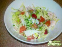 Śniadaniowa szybka sałatka z sałatą