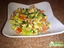 Śniadaniowe warzywka w jajku