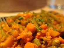Soczewica z warzywna salsą
