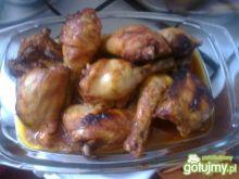 Soczyste udka z  kurczaka pieczone
