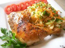 Sojowy kurczak z makaronem ryżowym