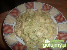 Sos brokułowy z kurczakiem