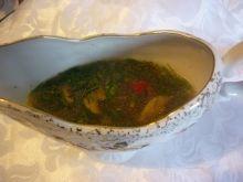 Sos pieczarkowo-paprykowy z koperkiem