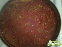 Sos pomidorowo-pieczarkowy.