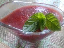 Sos truskawkowy z miętą