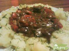 Sos z wieprzowo-grzybowy