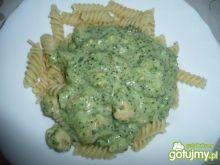 sosik serowo- brokułowy do makaronu