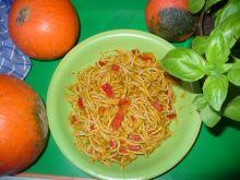 Spaghetti z papryką i dynią