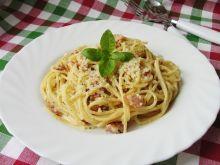 Spaghetii carbonara z przyprawą