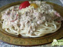 Spaghett zaprzyjaznione z tunczykiem