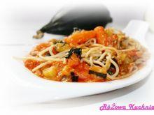 Spaghetti pełnoziarniste z cukinią