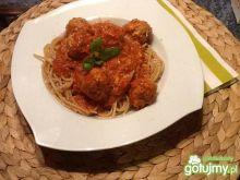 Spaghetti pełnoziarniste z pulpecikami