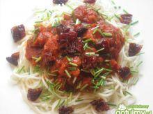 Spaghetti Toscana ze szczypiorkiem