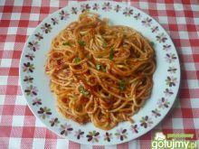 Spaghetti w sosie pomidorowym 4