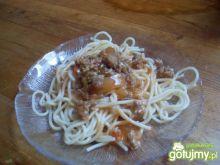 Spaghetti z ananasem