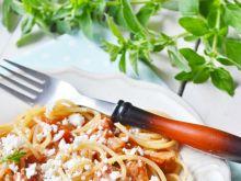 Spaghetti z białym serem
