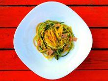 Spaghetti z cukinią, cytryną i pancettą