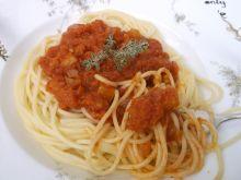 Spaghetti z cukiniowym sosem