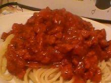 Spaghetti z indykiem