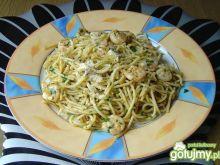 Spaghetti z Krewetkami i Parmezanem