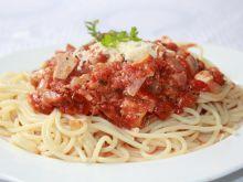 Spaghetti z kurczakiem i suszonymi pomidorami