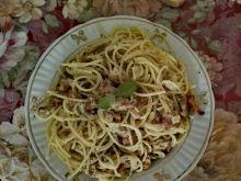 Spaghetti z kurkami