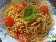 Spaghetti z łososiem 4