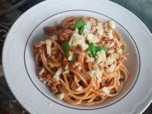 Spaghetti z mielonym indykiem