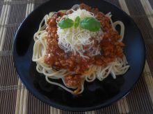 Spaghetti z mięsem i boczkiem
