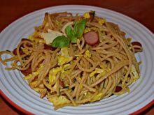 Spaghetti z oscypkiem i jajkiem