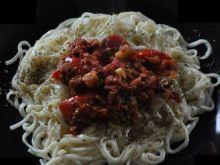 Spaghetti z papryką i winem