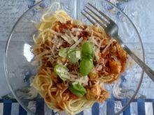 Spaghetti z piersi kurczaka