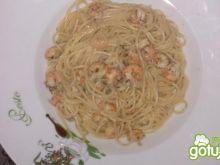 Spaghetti z raczkami rzecznymi