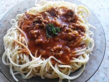 Spaghetti z sosem napoli
