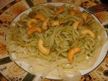Spaghetti z sosem ziołowym