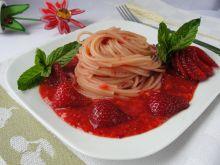 Spaghetti z truskawkami