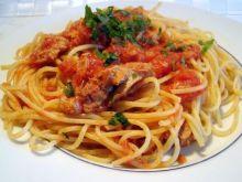 Spaghetti z tuńczykiem.