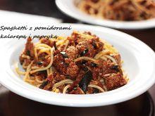 Spaghetti z wołowiną i warzywami