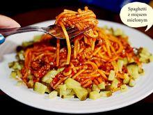 Spaghetti z wołowiny i warzyw