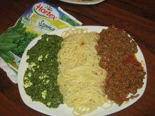 Spaghetti ze szpinakiem i wołowiną - Viva l'Italia