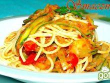 Spghetti z Pesto i Warzywami