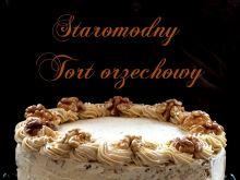 Staromodny tort orzechowy