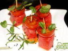 Starter z arbuza i pomidorków