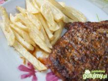 Stek wieprzowy z frytkami