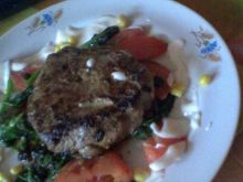 Stek z polędwicy ze szpinakiem