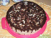 Strasznie orzechowy tort z kakaowa pajęc