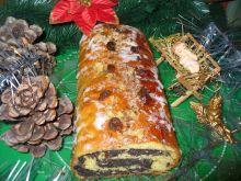 Strucel makowy z ciasta drożdżowego
